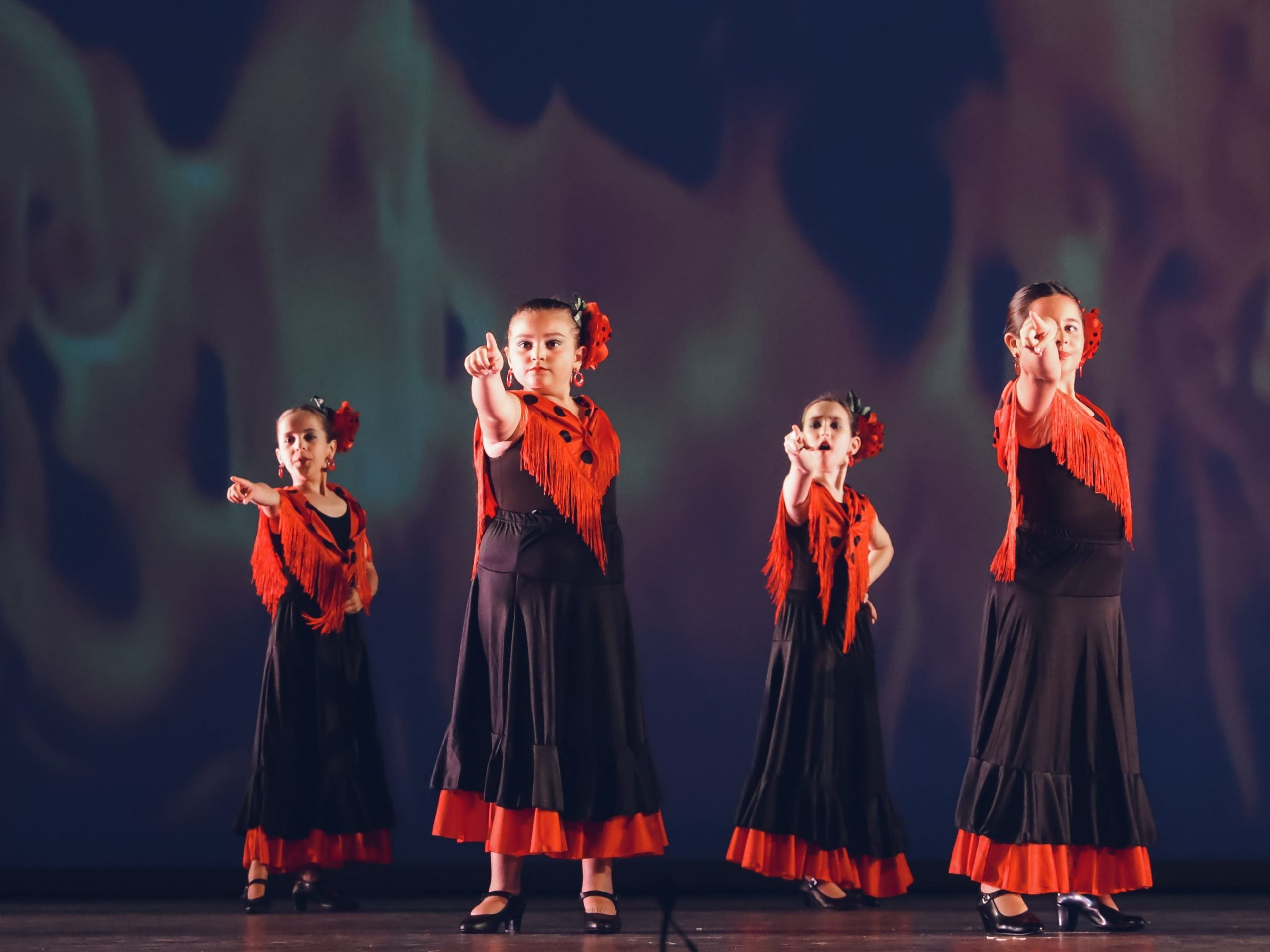 danza concha niñas flamenco